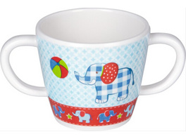 Die Spiegelburg - BabyGlück Melamin-Tasse mit 2 Henkeln Elefant, Bisphenol A frei