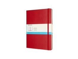 Moleskine Notizbuch, Xlarge, Punktraster, Fester Einband, Scharlachrot