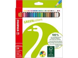 STABILO Buntstifte GREENcolors, 24er Set