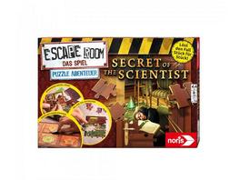 Noris 606101966 - Escape Room, Secret of the Scientist, Familienspiel, Puzzlespiel