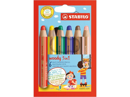 STABILO woody 3 in 1 - 6er Pack