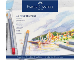 Faber-Castell Aquarellstifte Goldfaber Aqua, 24er Set Metalletui