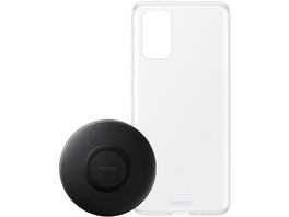 SAMSUNG SET CLEAR COVER+CHARGER S20+